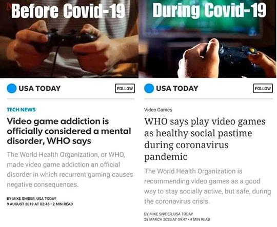 Covid Video Games