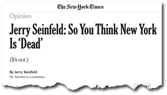 So You Think New York Is Dead
