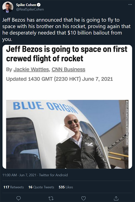Bezos in Space