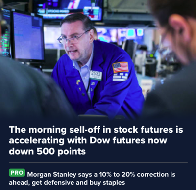 Morning Sell-Off