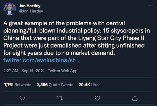 Jon Hartley Tweet